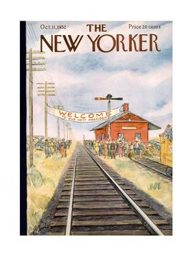 The New Yorker Cover - October 11, 1952 by Perry Barlow