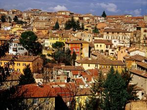 Old Houses and Rooftops, Perugia, Italy by Pershouse Craig
