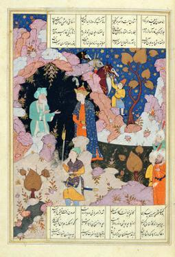 Ms D-212 Fol.285A Alexander Visits a Hermit, Illustration to 'The Book of Alexander', 1191 by Persian