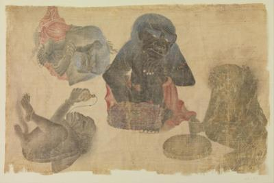 Four Captive Demons, 1470-1500 by Persian School
