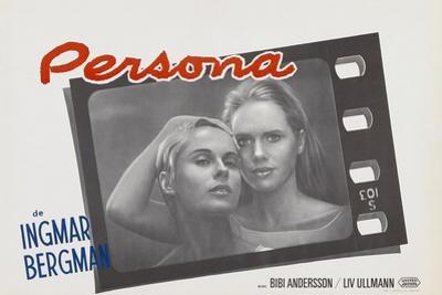 Persona, Bibi Andersson, Liv Ullmann, Belgian lobbycard, 1966