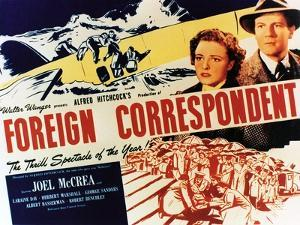 """Personal History, 1940 """"Foreign Correspondent"""" Directed by Alfred Hitchcock"""