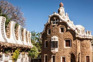Barcelona Park Guell Fairy Tale Mosaic House on Entrance by perszing1982