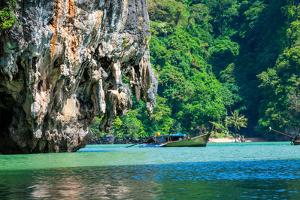 Huge Limestone Cliff in the Phang Nga Bay, Thailand by perszing1982