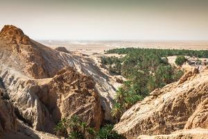 Mountain Oasis Chebika at Border of Sahara, Tunisia, Africa by perszing1982