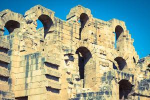 Ruins of the Largest Colosseum in in North Africa. El Jem,Tunisia. Unesco by perszing1982