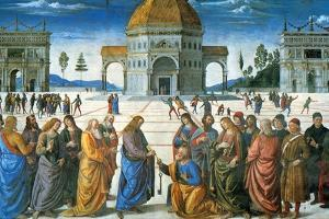 Delivery of the Keys to Saint Peter, 1481 by Perugino