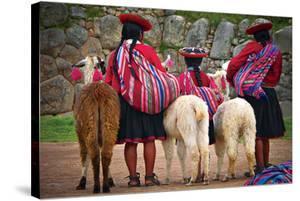 Peruvian Indios with Lamas