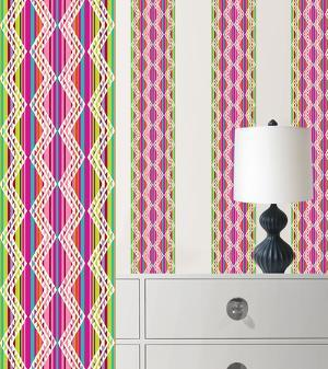Petals Stripe Wall Decal Sticker