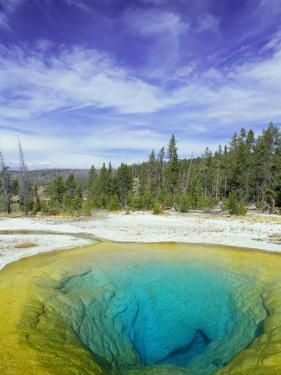 Morning Glory Pool, Old Faithful Geyser, Yellowstone National Park, Wyoming, USA by Pete Cairns