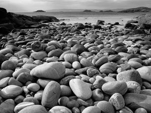 Stony Beach on Knoydart Peninsula, Western Scotland by Pete Cairns