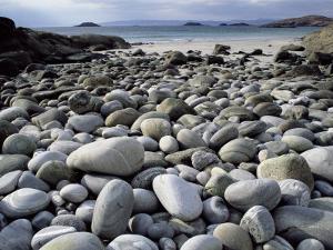 Stony Beach on Knoydart Peninsula, Western Scotland by Pete Cairns