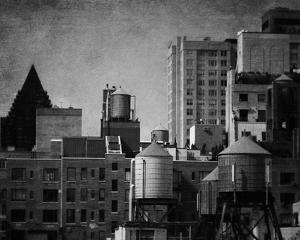 Building Tops - Noir by Pete Kelly