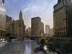 Chicago Skyline by Pete Kelly