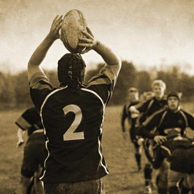 Rugby Game I by Pete Kelly