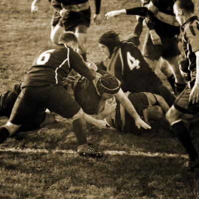 Rugby Game III by Pete Kelly