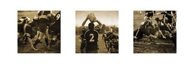 Rugby Game Triptych