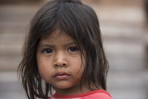 Amerindian Girl Parabara Wai Wai Territory, Region 9, Parabara, Guyana by Pete Oxford