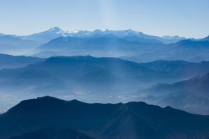 Andes Mountain Range with Glaciers, Southern Chile by Pete Oxford