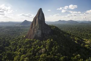 Bottle Mountain, Granite Outcrop. Savanna South Rupununi, Guyana by Pete Oxford