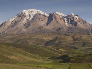 Chimborazo Mountain (6310 Meters) the Highest Mountain in Ecuador, Chimborazo Reserve, Ecuador by Pete Oxford