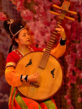 Concert of Traditional Chinese Music Instruments, Shaanxi Grand Opera House, Xi'an, China by Pete Oxford