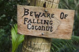 Danger Sign, Fiji by Pete Oxford