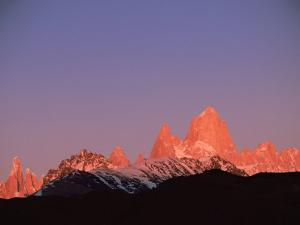 Fitzroy Massif Peak at Sunset, Andes, Patagonia, Argentina, South America by Pete Oxford