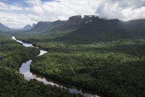 Kaieteur Falls on the Potaro River, Kaieteur Gorge, Kaieteur National Park, Essequibo, Guyana by Pete Oxford