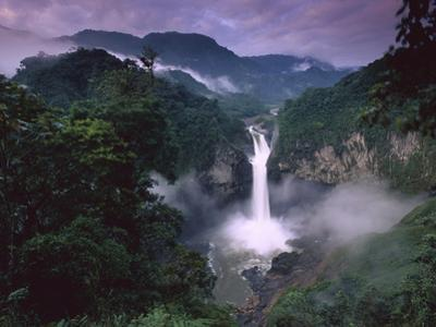 San Rafael or Coca Falls on the Quijos River, Amazon, Ecuador by Pete Oxford