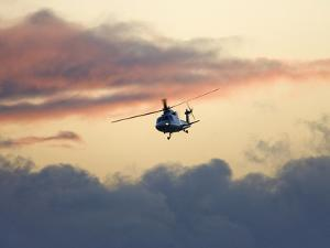 A Helicopter Comes in for a Landing by Pete Ryan