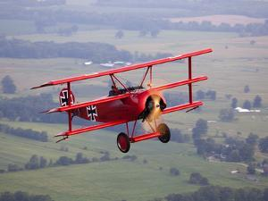 A Replica Fokker Dr. I, a Red Triplane as Flown by the Red Baron by Pete Ryan