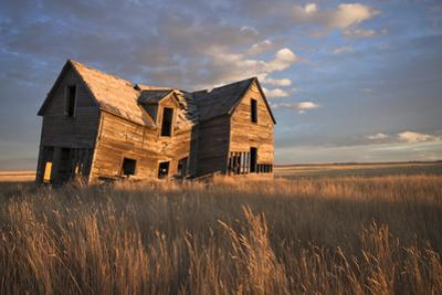 An old farmhouse in ruin on the Alberta prairie. by Pete Ryan