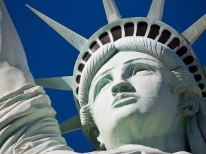 Close-Up of the Statue of Liberty Replica by Pete Ryan
