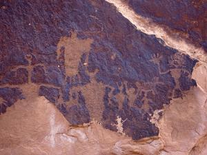 Examples of Rock Art Adorn a Rock Formation by Pete Ryan
