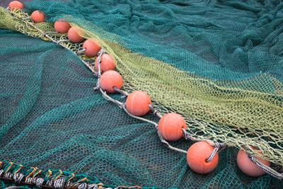Fishing Nets with Floats by Pete Ryan