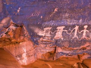 Prehistoric Indian Petroglyphs, Valley of Fire State Park, Nevada by Pete Ryan