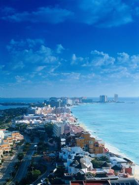 Aerial of the Beaches of Cancun, Mexico by Peter Adams