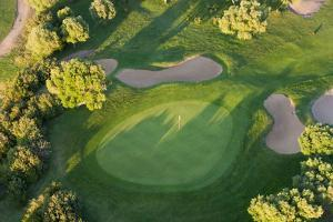Aerial View of Golf Course Huelva Province, Spain by Peter Adams