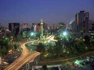 Aerial View of Mexico City at Night, Mexico by Peter Adams