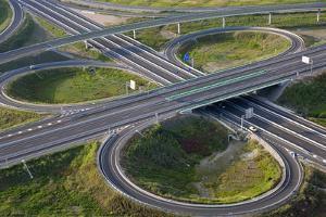 Aerial View of Road Highway Junction Huelva Province, Spain by Peter Adams