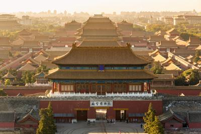 Aerial View of the Forbidden City, Beijing, China by Peter Adams