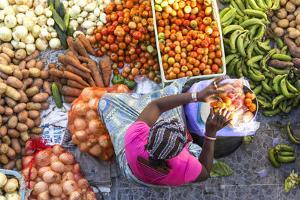 African Market, Assomada, Santiago Island, Cape Verde by Peter Adams
