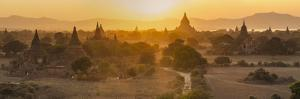 Ancient Temple City of Bagan (Also Pagan) and Ox Cart, Myanmar (Burma) by Peter Adams