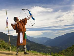 Archery Competition, Bumthang, Bhutan by Peter Adams
