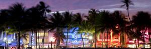 Art Deco Area with Hotels at Dusk, Miami Beach, Miami, Florida, Usa by Peter Adams