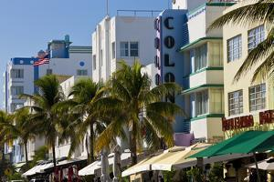 Art Deco Area with Hotels, Miami, Florida, USA by Peter Adams