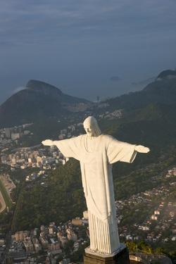 Art Deco Statue of Jesus, Corcovado Mountain, Rio de Janeiro, Brazil by Peter Adams