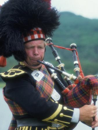 Bagpipe Player, Scotland