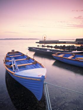 Boats on Lake, Connemara, County Galway, Ireland by Peter Adams
